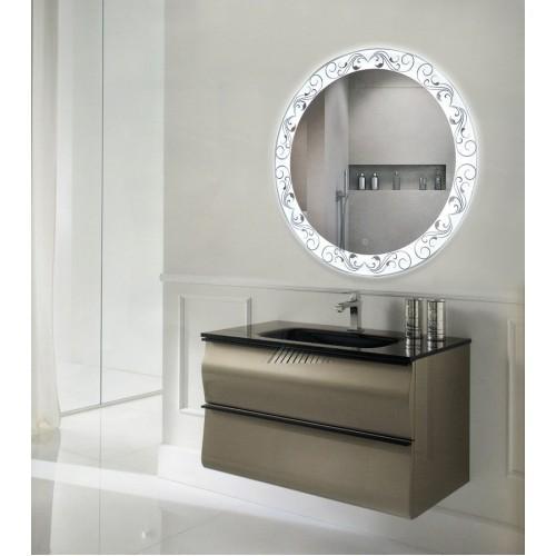 Зеркало в ванну с подсветкой лентой Эмма